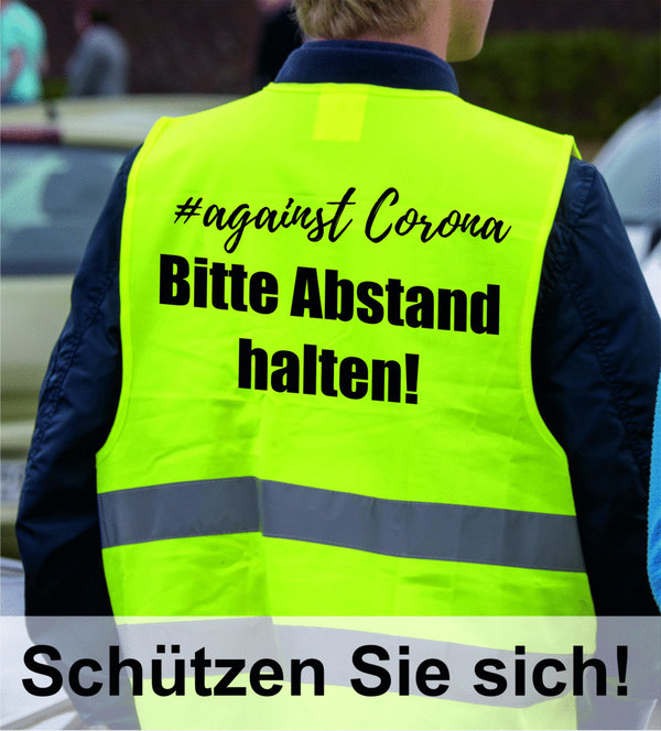 #against Corona Warnweste